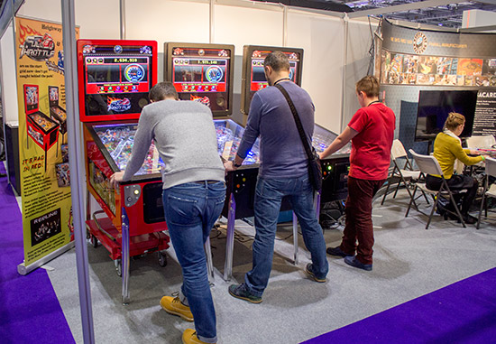 Full Throttles on the Heighway Pinball stand