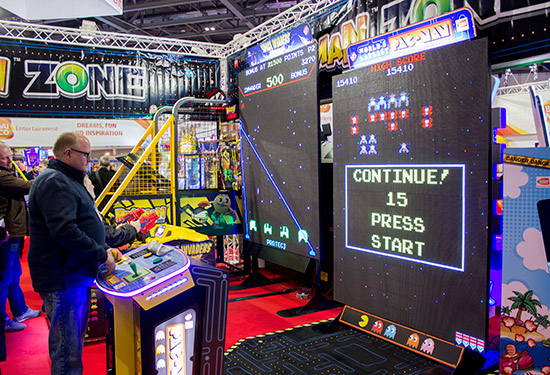 Giant Galaga and Space Invaders