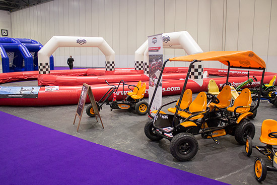 The prize for the biggest product goes to this inflatable go-kart track