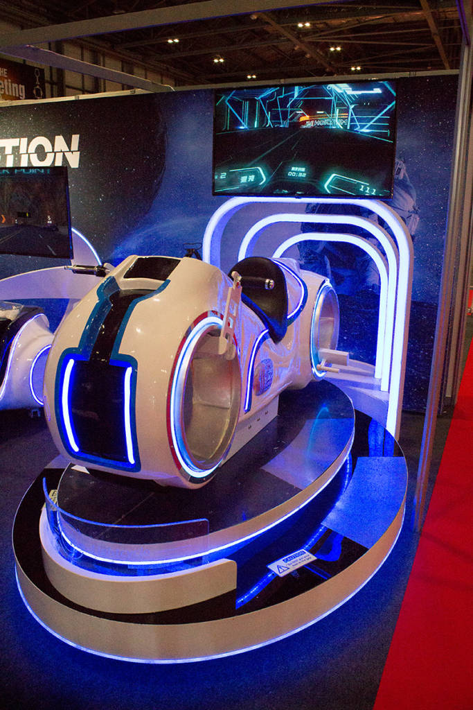Immotion VR drew a lot of attention with their light cycle ride