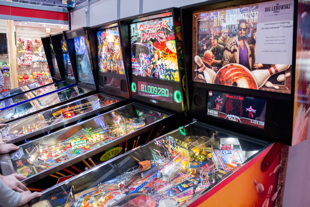The Pinball Heaven line-up of machines