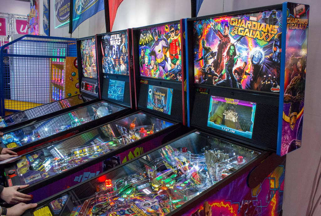 The four Stern Pinball games
