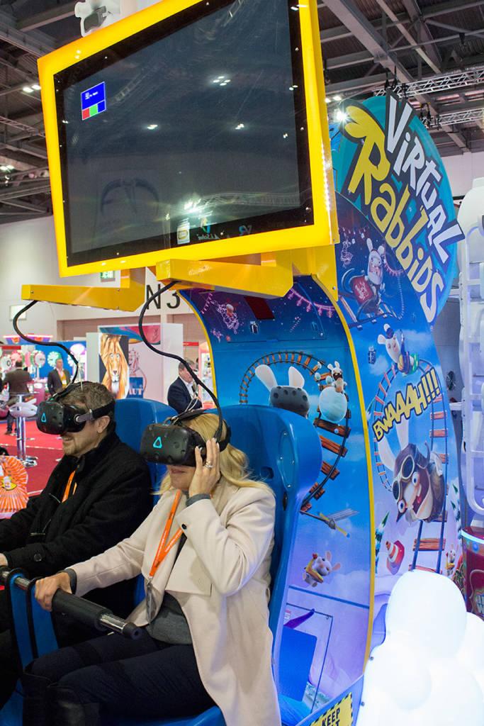 VR rollercoaster simulator