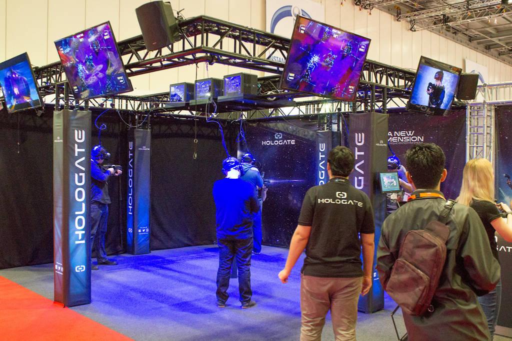 Hologate's multi-player VR system