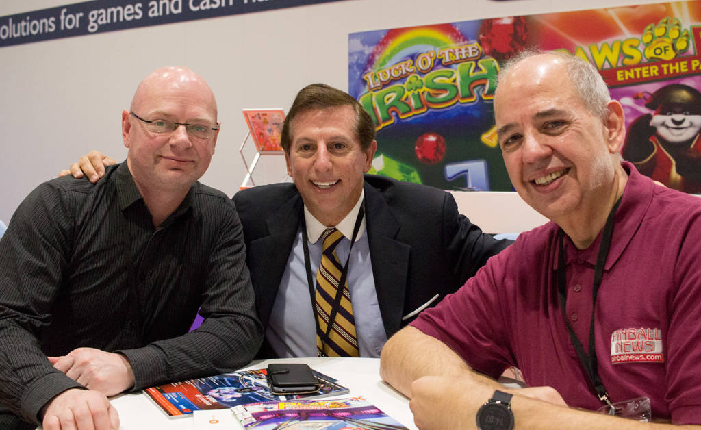 Jonathan Joosten, Jack Guarnieri and Martin Ayub of Pinball News