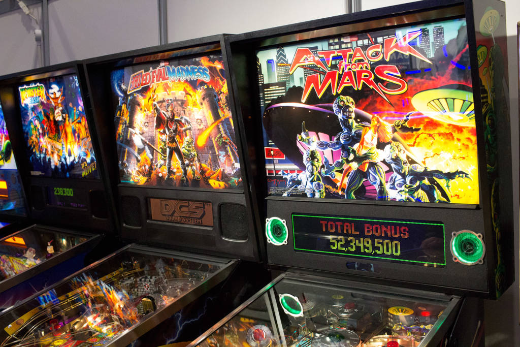 The three 'remake' titles from Chicago Gaming - Monster Mash, Medieval Madness and Attack from Mars