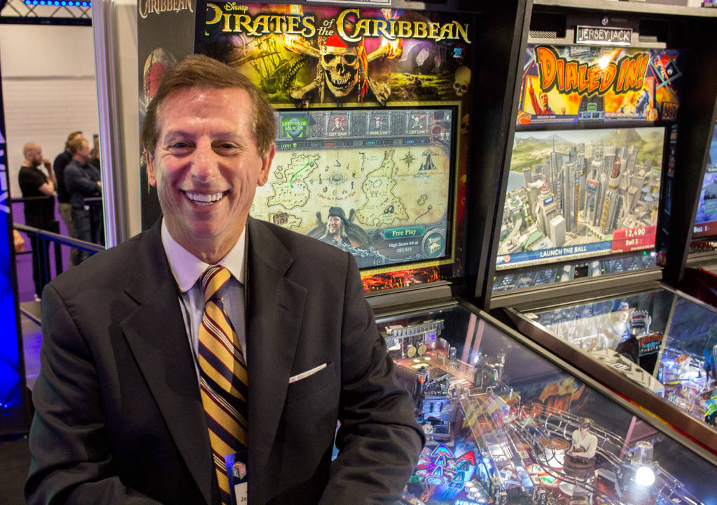 Jack Guarnieri of Jersey Jack Pinball was here to promote his company's titles