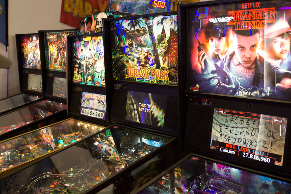 The five Stern Pinball titles