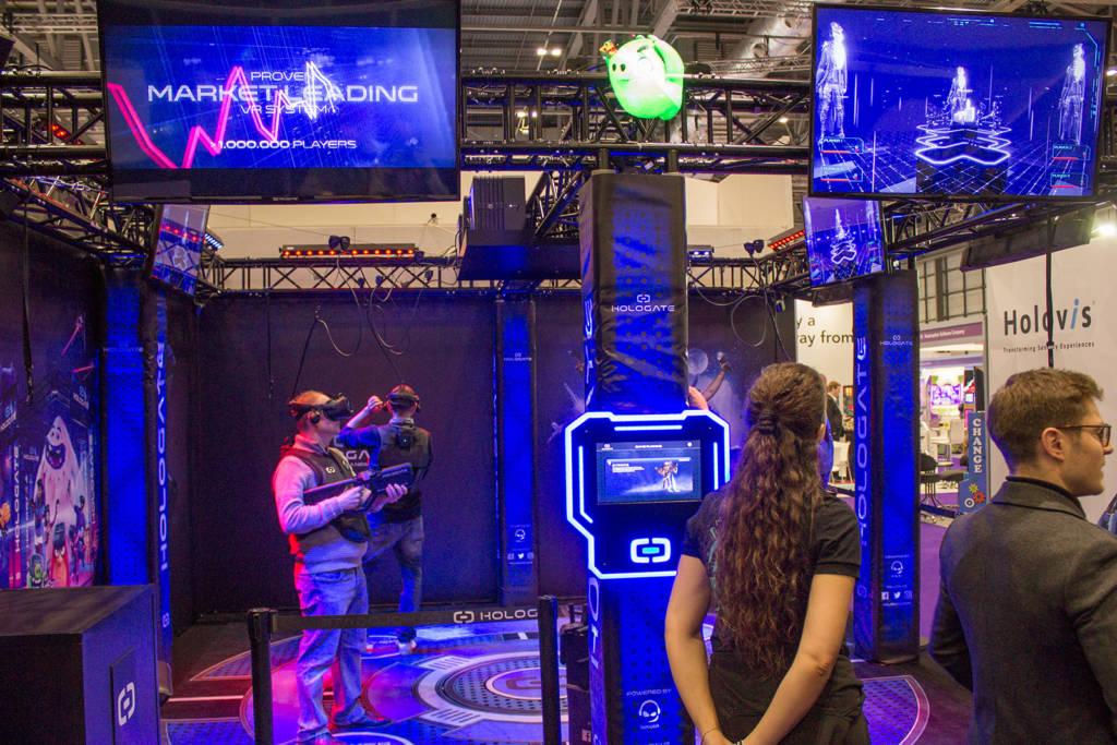 The first of two VR arenas