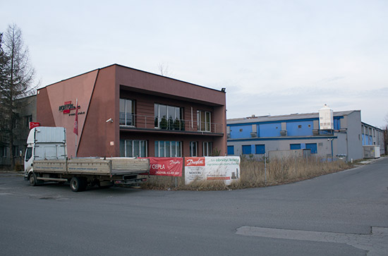 Part of the industrial estate on Bernardynska