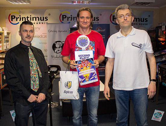 Second place, Markus Stix