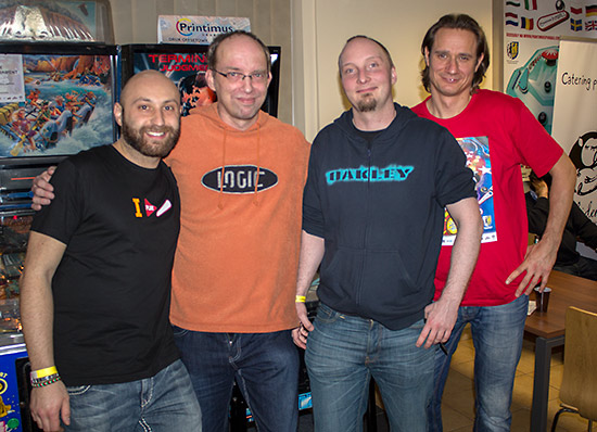The four finalists in the Mihiderka Modern Tournament