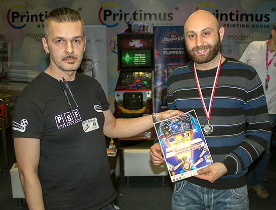 Second place, Daniele Acciari