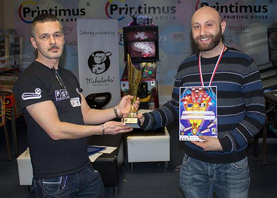 Winner of the Mihiderka Modern Tournament, Daniele Acciari