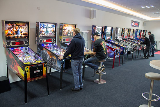 Some of the Pinball Universe showroom games