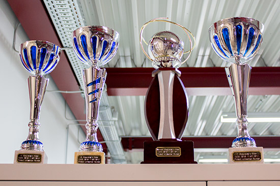Trophies for the side tournament