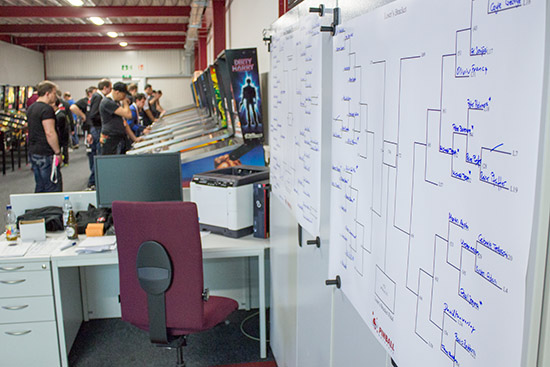 The winner and loser brackets begin to fill up