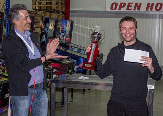 Winner of Saturday's side tournament, Ernö Rotter