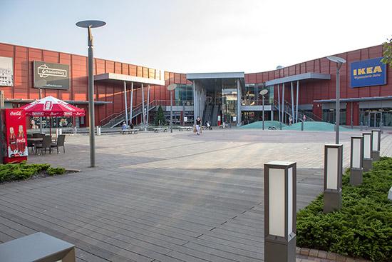 The shopping centre