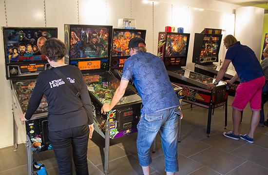 Free-play practice machines