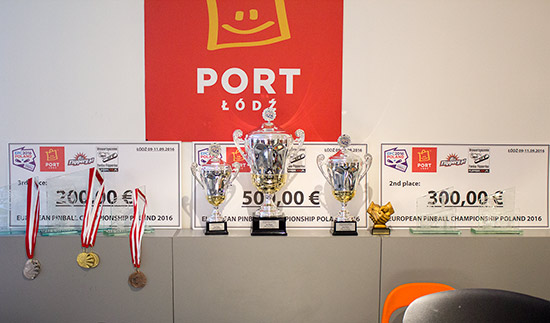 Trophies and cash prizes for the tournaments