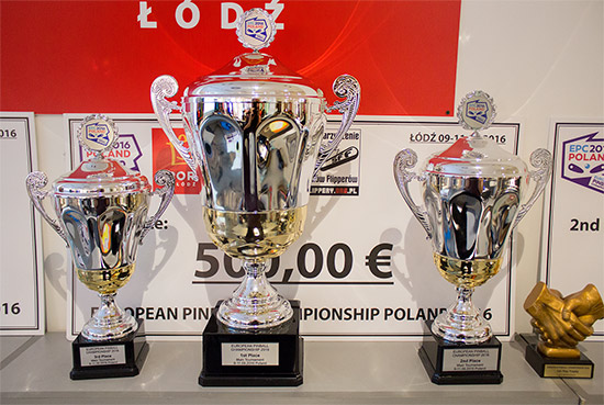 The trophies for the main EPC tournament