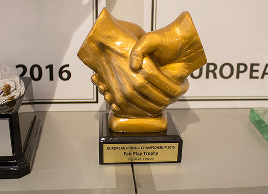 The Fair Play trophy given to the player who shows the best sportsmanship