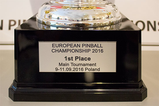 The trophy for the winner of the main EPC tournament