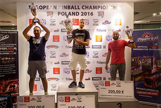 The top three in the EPC 2016::Cesare d'Atri (2nd), Jorian Engelbrektsson (1st) & Daniele Acciari (3rd)