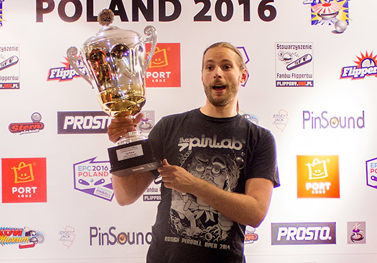 European Pinball Champion 2016, Jorian Engelbrektsson