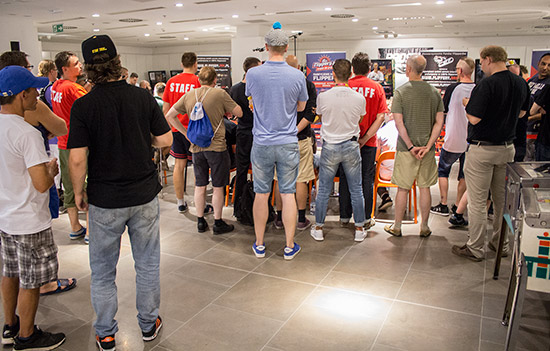 The crowd watches as the final begins