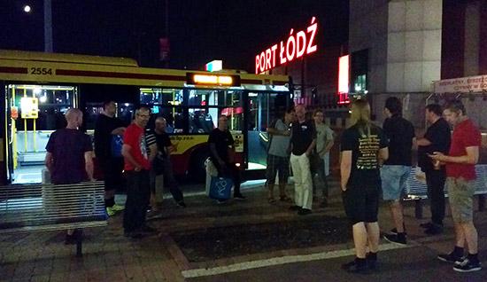 The bus to the night club in Łódź