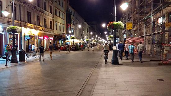Piotrkowska in Łódź