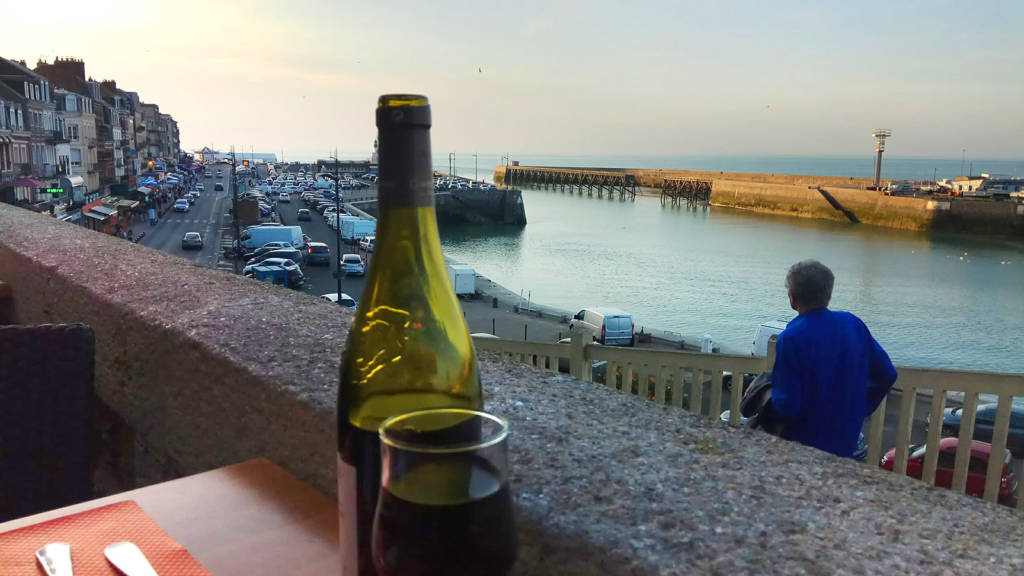 Dinner overlooking the harbour at Le Treport
