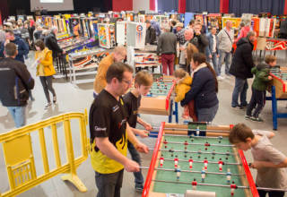 The free play and tournament hall at Flip Expo 2019