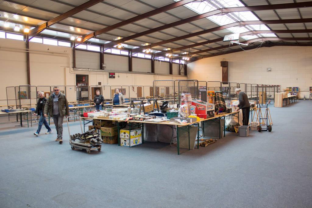 Inside the vendor hall