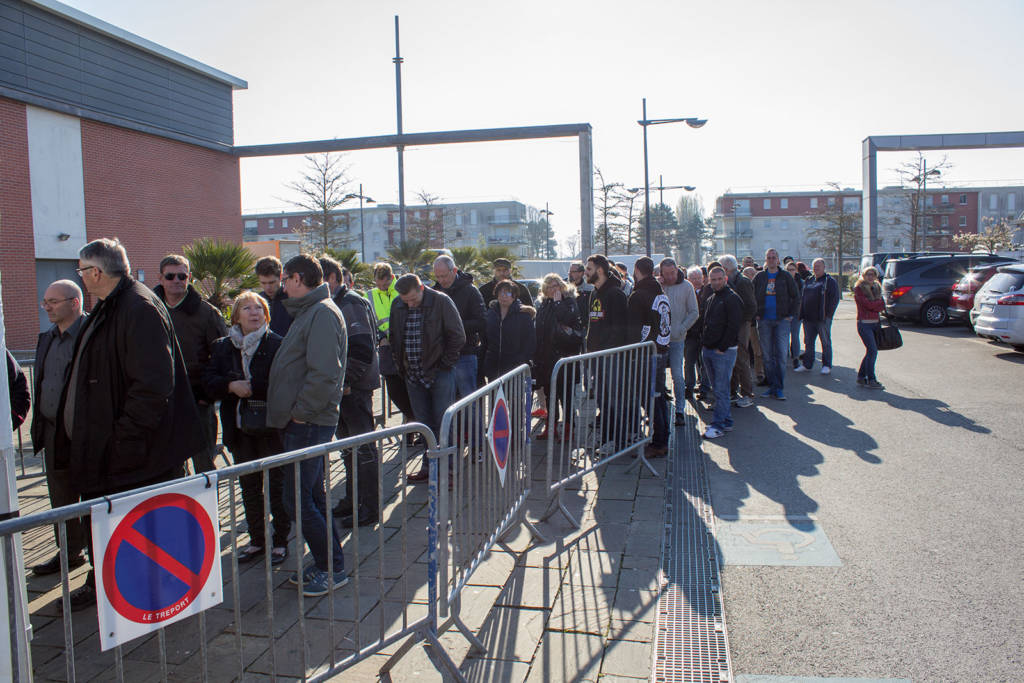 The queue at opening time on Saturday