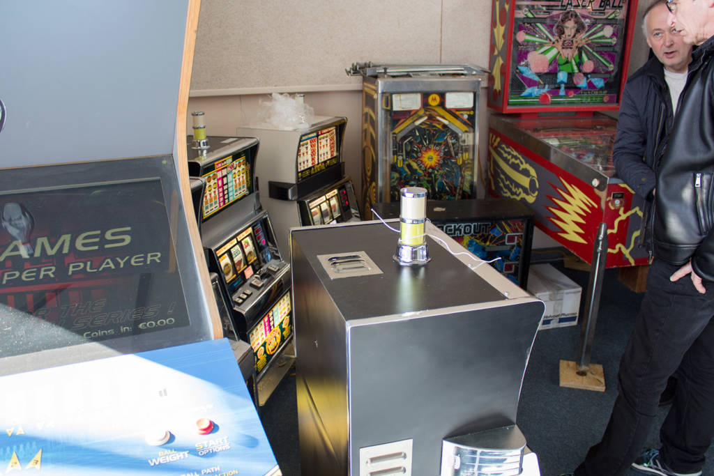 He had some retro slot machines for sale too