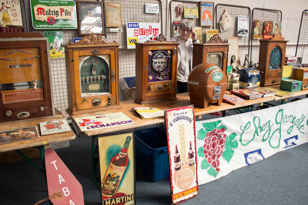 Xavier Chiaroni had a large stand filled with games and collectables from yesteryear