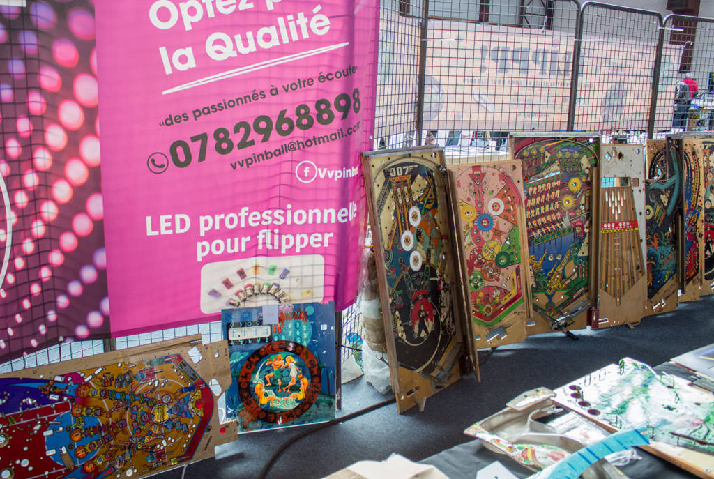 Assorted pinball playfields for sale