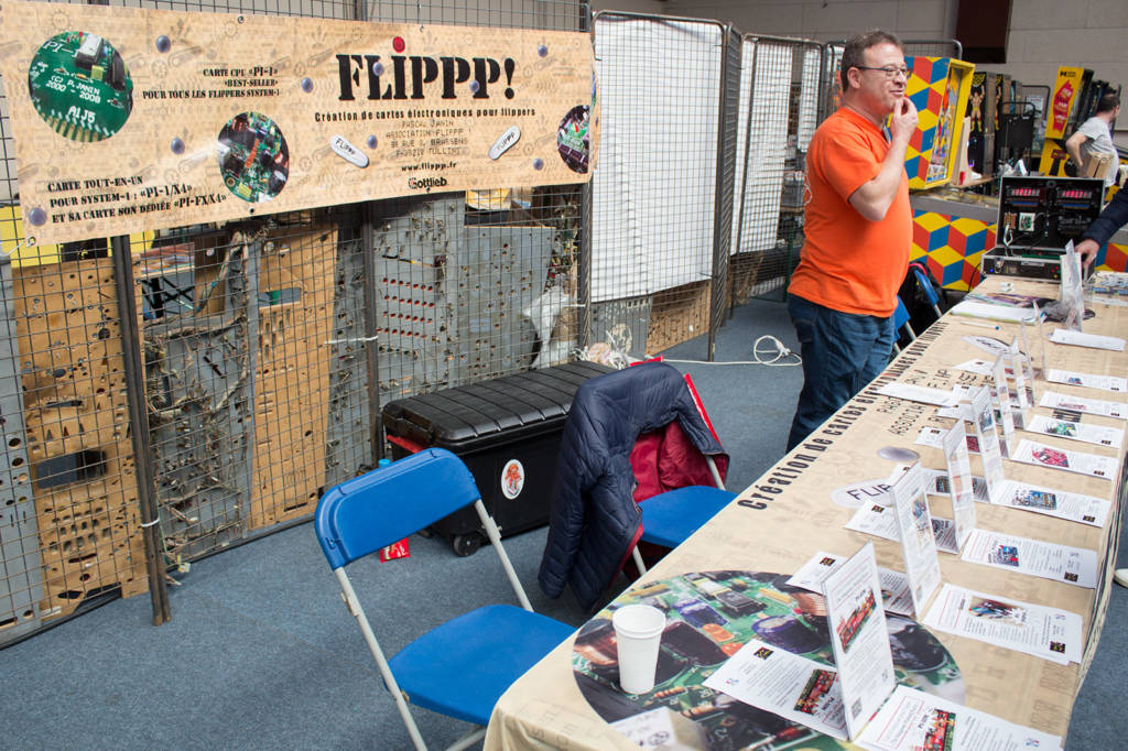 Pascal Janin was at Flip Expo selling his replacement and add-on pinball controller boards