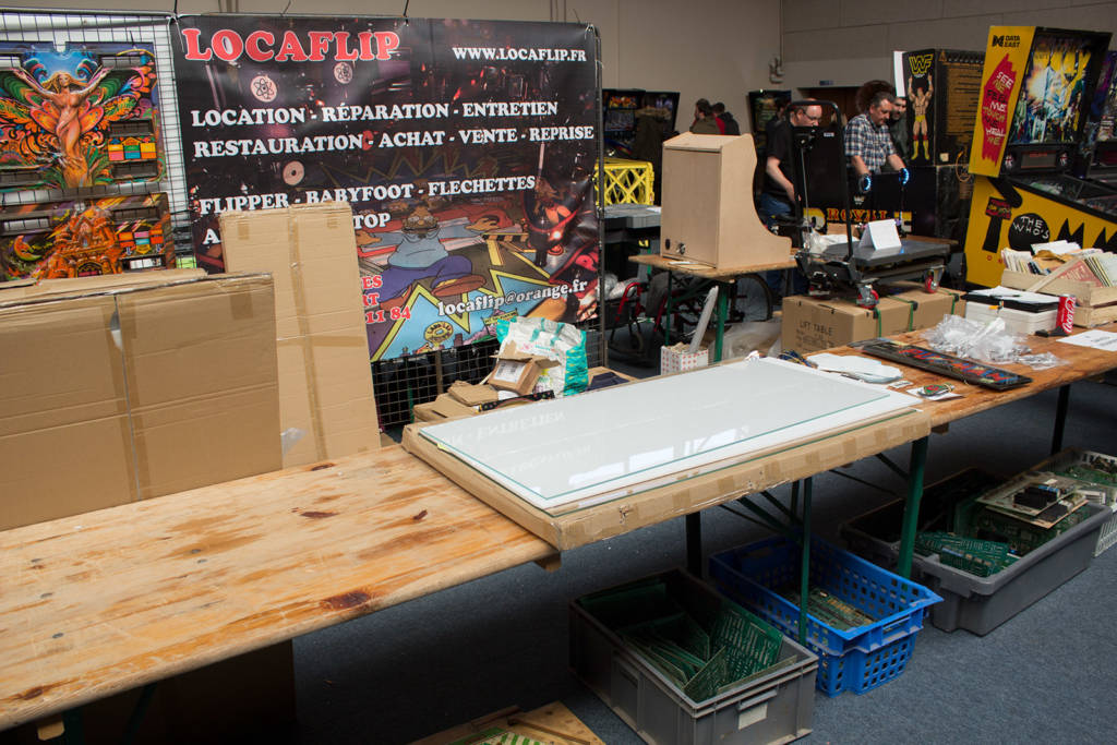 LocaFlip had pinball glass, manuals and assorted boards for sale