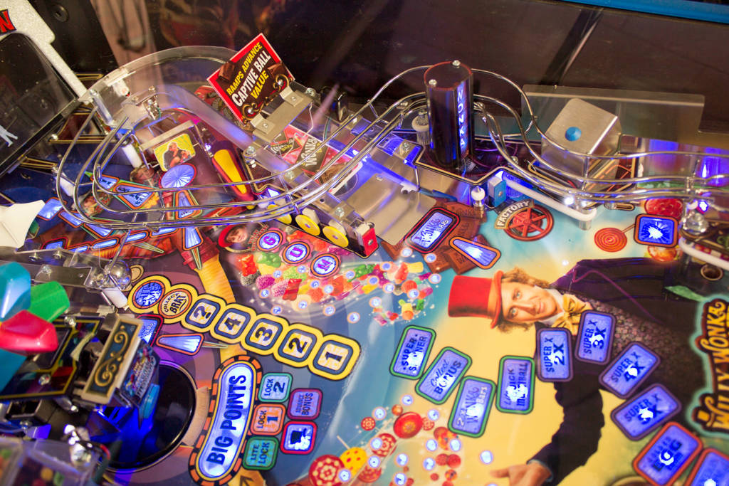 The upper-right part of the playfield