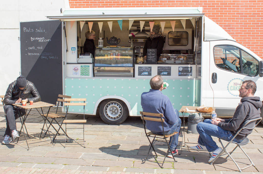 This food truck was serving drinks and snacks outside the Free Play Hall, while a supermarket was about 30-seconds' walk away