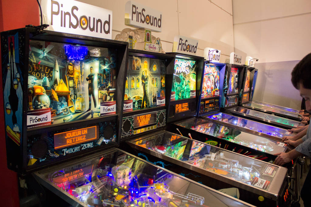 Some of the PinSound demonstrator machines