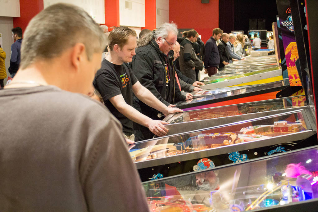 Machines being played in the Free Play Hall