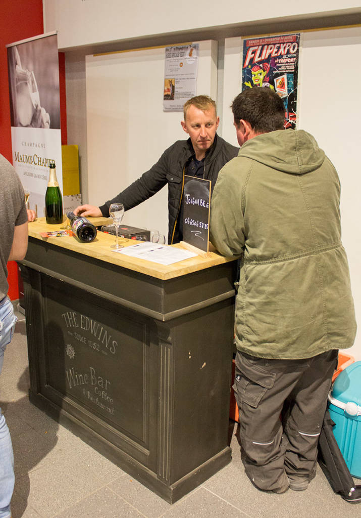 For something a little more upmarket, you could buy champagne at this stand