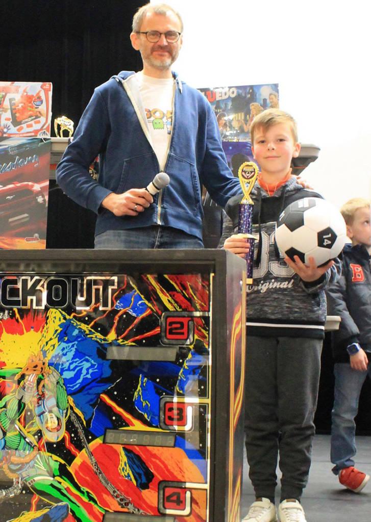 Winner of the kids tournament, Alexandre Bouet