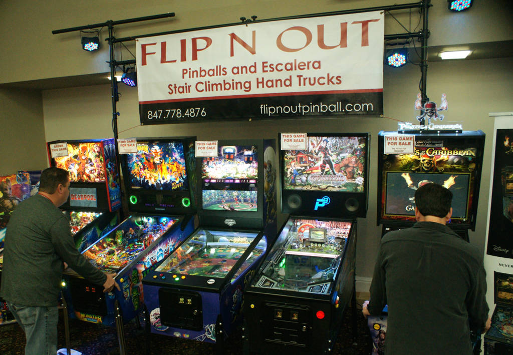 Flip N Out had many of the newest games from Stern, Chicago Gaming, Valley Dynamo, Multimorphic, Spooky and Jersey Jack