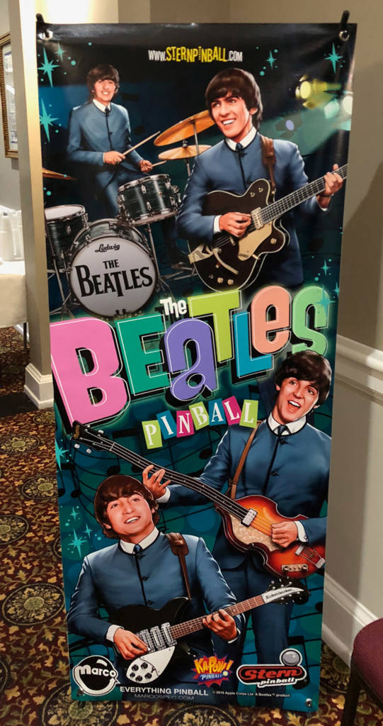 The new The Beatles: Beatlemania Pinball game was being promoted too